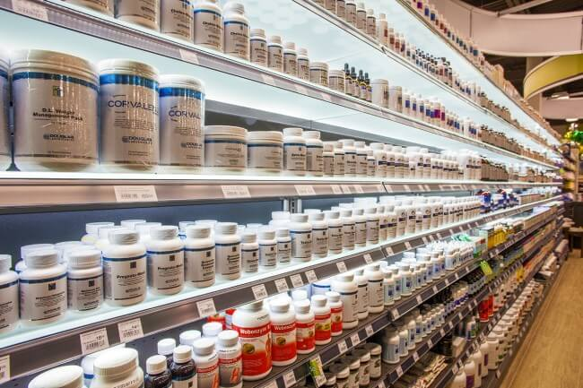 Nature's Emporium VAUGHAN - Interior - Vitamins, Supplements, Herb and Homeopathic Department