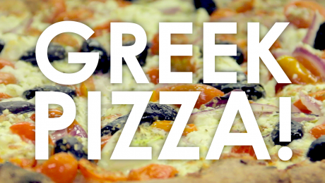 Traditional Stone Baked Greek Pizza