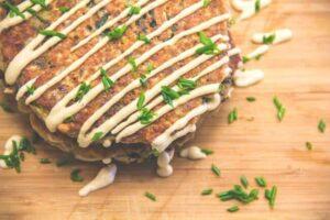 Savory Spinach & Pepper Jack Daiya Pancakes