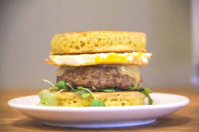 Fat Burning Pancake Breakfast Sandwich
