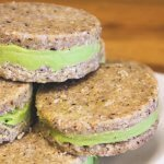 Avocado Lime Ice Cream Cookie Sandwiches - Raw Vegan