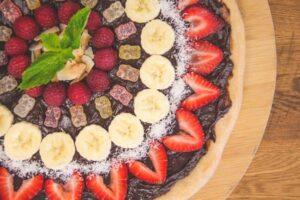 Featured Recipe: Chocolate Hazelnut & Fruit Pizza (Dairy Free)