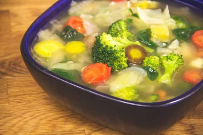 Rainbow Veggie Detox Soup