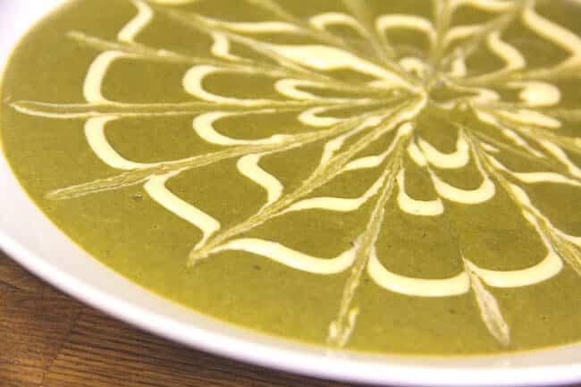 Featured Recipe: Cream of Cashew Spinach Soup (Dairy Free, Vegan)