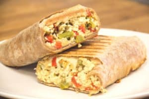 Featured Recipe: Tofu Scramble & Asparagus Burrito (Vegan)