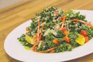 Peanut-Sesame Kale Salad
