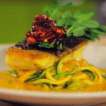 Black Cod with Curried Zucchini Noodles Image