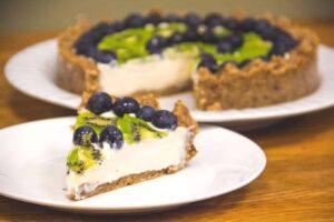 Blueberry Kiwi Cheesecake Tart