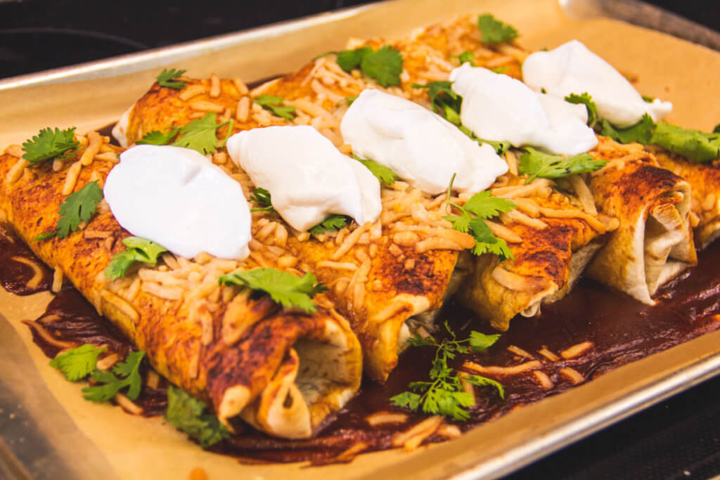 Turkey & Cheese Enchiladas (Dairy Free, Vegan)