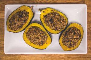 Vegan, Dairy Free Organic Acorn Squash Bowls (Non GMO)