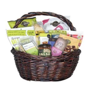 Gift baskets give the gift of good health natures emporium bountiful bites snacking essentials gift basket negle Images