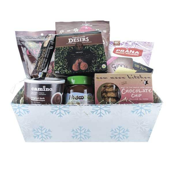 Earths bounty vegan gluten free essentials gift basket a moment of bliss chocolate lovers essentials gift basket negle Image collections