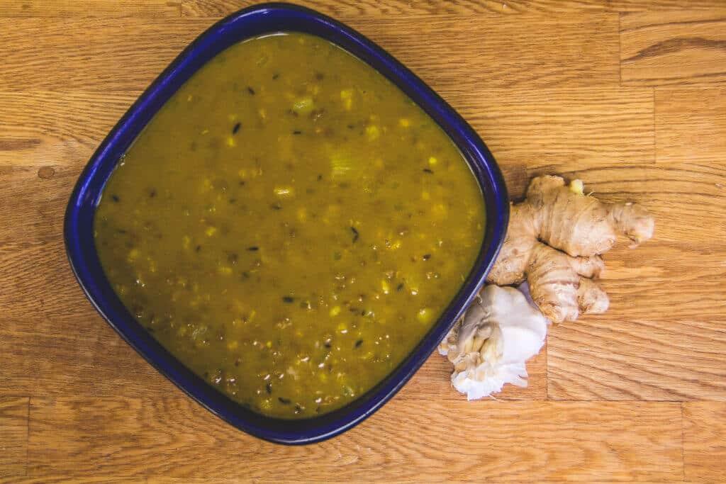 Curried Mungbean Soup