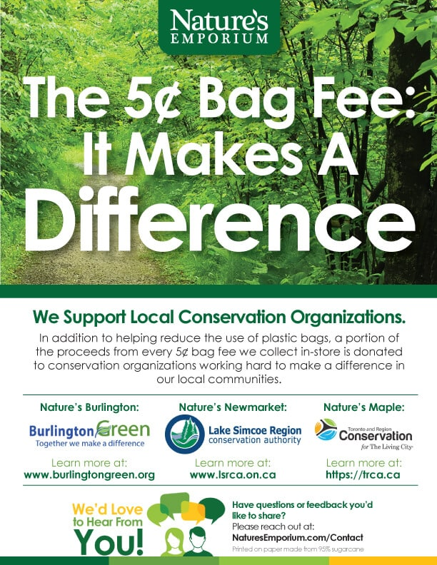 Nature's Emporium Bag Fee Partnership Poster