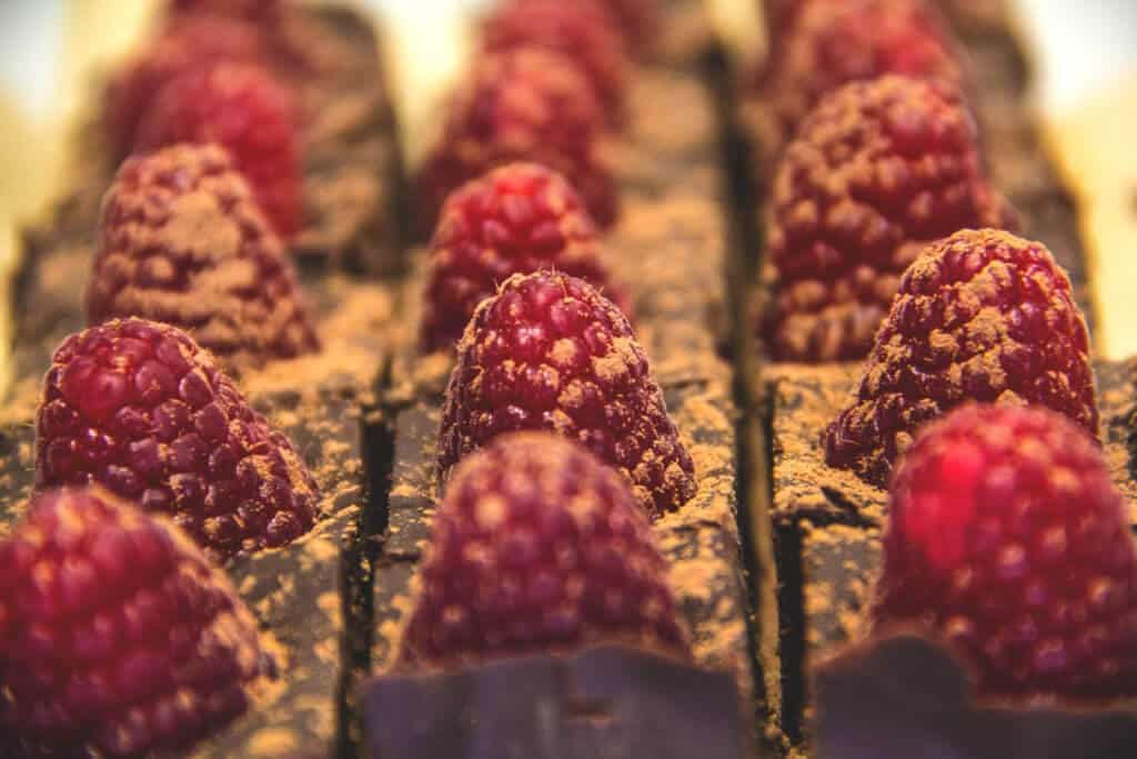 Raspberry Chocolate Truffle Bites