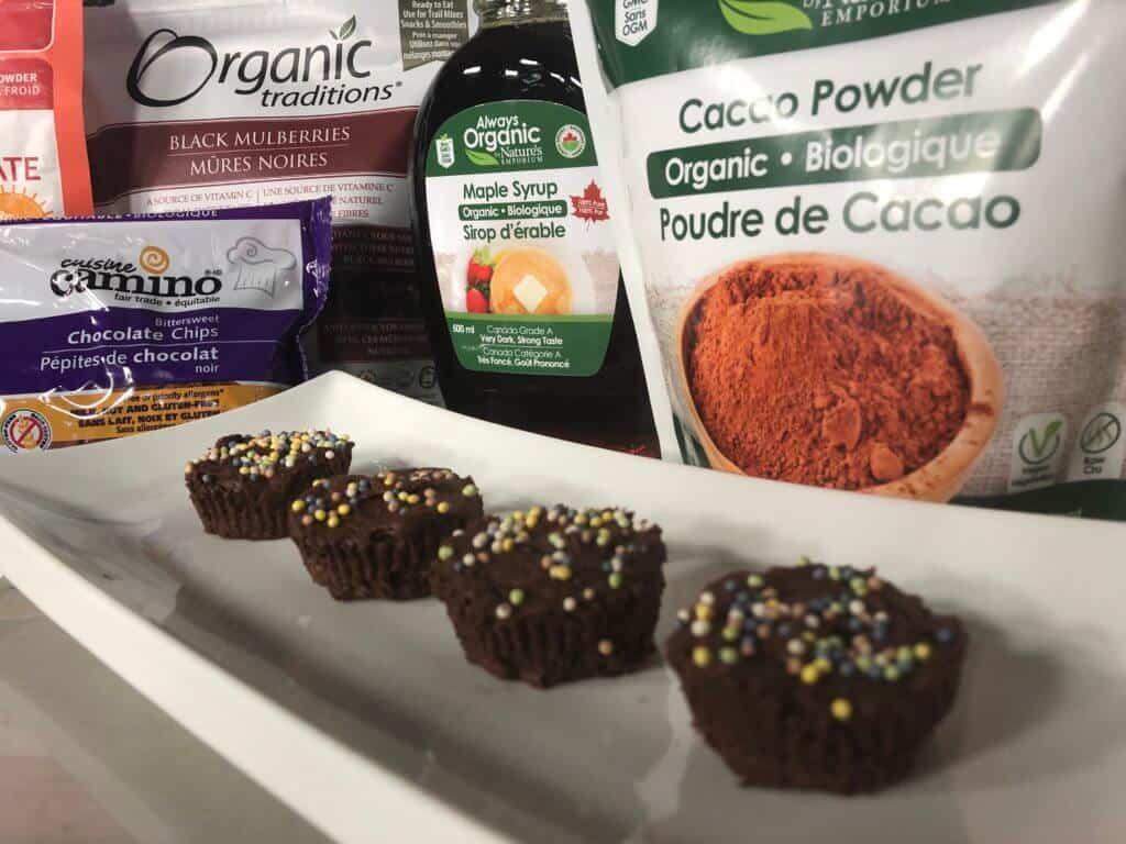 Nature's Emporium Vegan Dark Chocolate Pom Blossoms Recipe Image