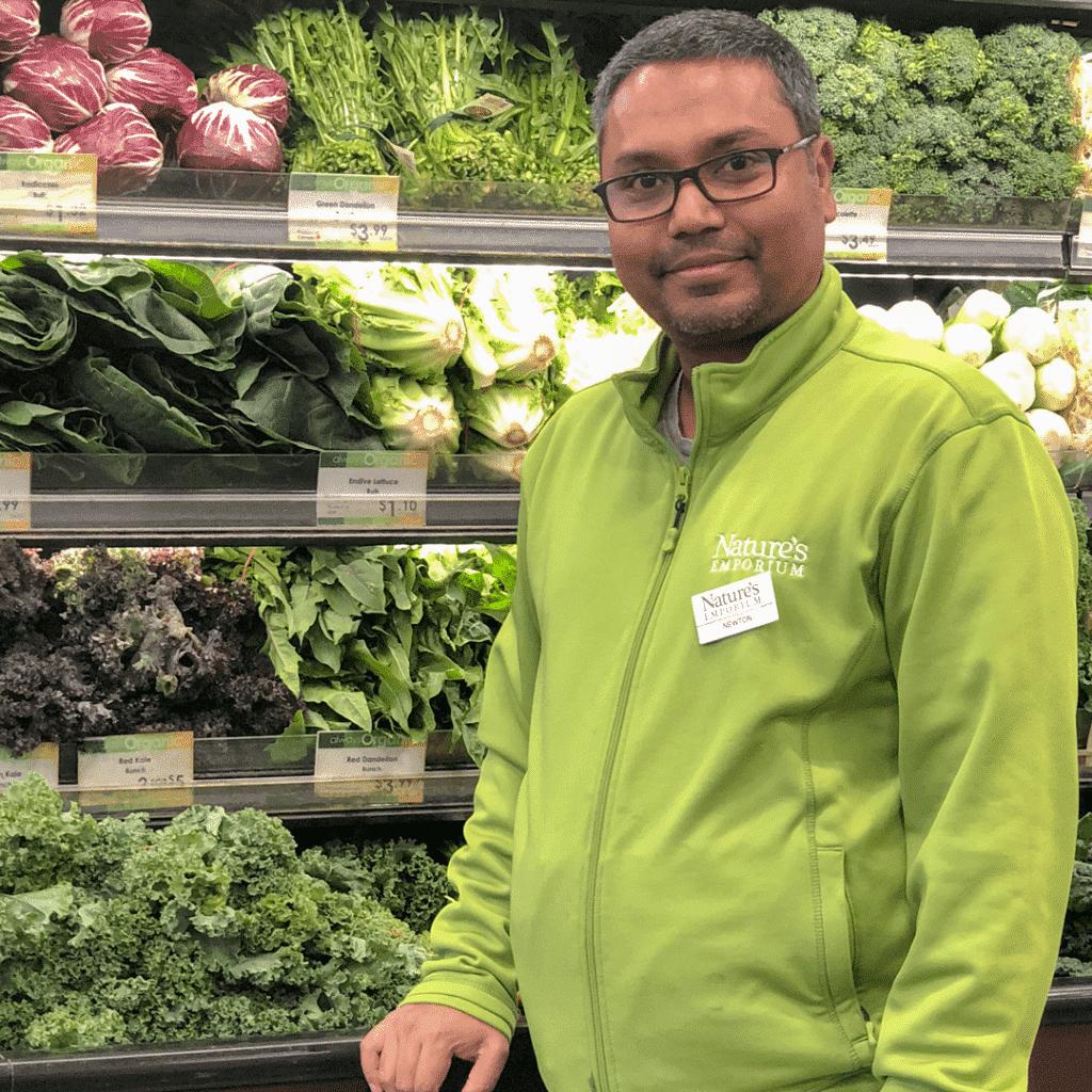 Newton, Produce Manager for Nature's Emporium Burlington