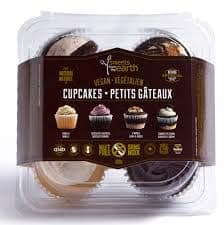 Sweets From The Earth cupcakes in their package.