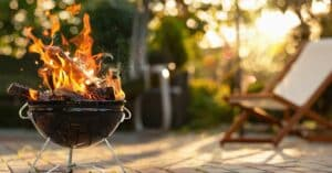 Barbecue Grill In The Open Air. Summer Holidays
