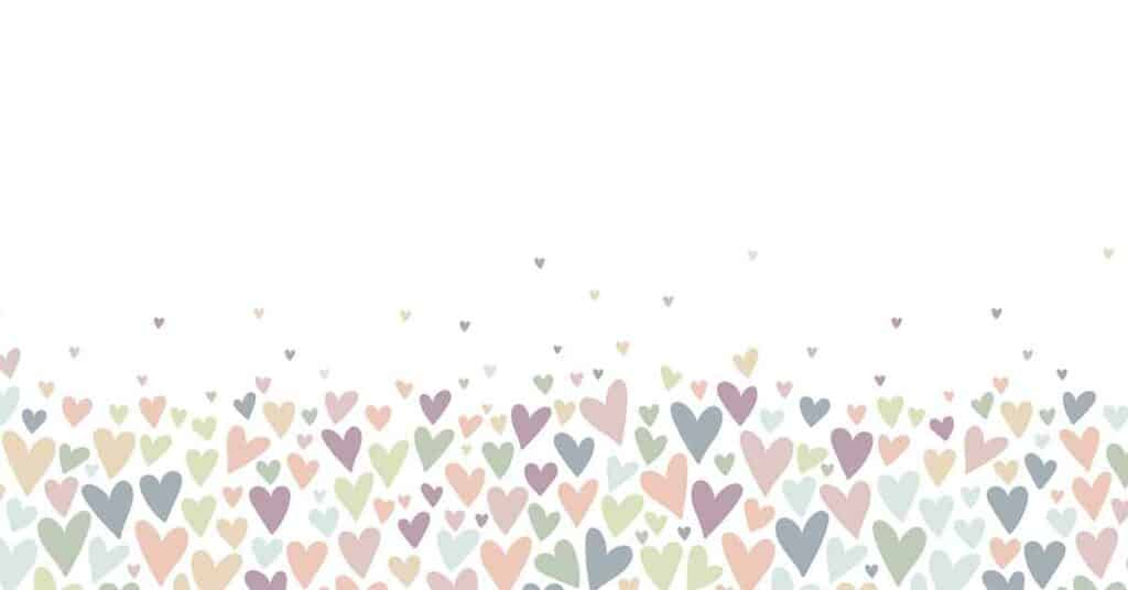 Lovely hand drawn doodle hearts seamless pattern, pastel colored
